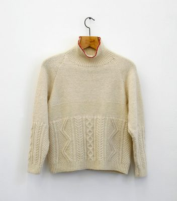 Deirdre Nelson Aran 0.5 Re-purposed eBay Aran Jumper (2011)