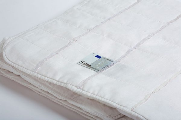 Deirdre Nelson Deposit Ikea mattress-cover, Irish linen, cotton, netting (2011)
