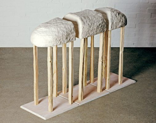 Nao Matsunaga Shelter with Multiple Legs (Beach Animal) Wood, ceramic, ink (2011)
