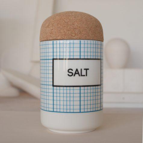 square SALT Storage Jar