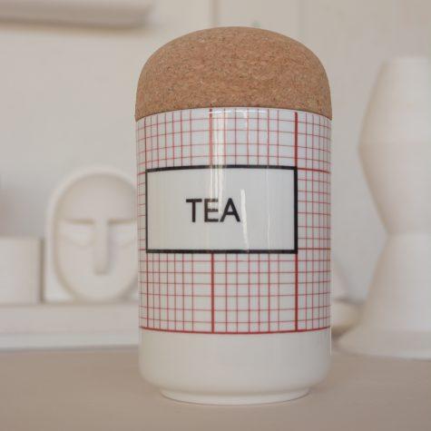 square TEA Storage Jar